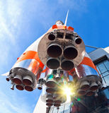 Fusée russe de transport de l'espace Photographie stock libre de droits