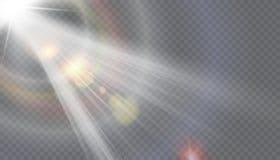 Fusée spéciale de lentille de lumière du soleil transparente de vecteur Photo stock