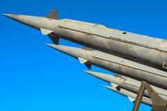 Fusées antiaériennes d'un système de missiles sol-air Photo libre de droits