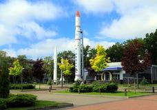 Fusées d'espace de musée au centre de Dniepropetovsk Image libre de droits