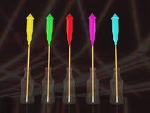 Fusées d'an neuf Image libre de droits
