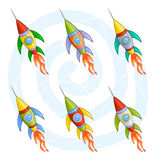Fusées de dessin animé Photo stock