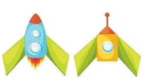 Fusées de dessin animé. Image libre de droits