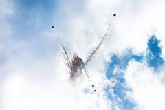 Fusées de salon de l'aéronautique Photographie stock
