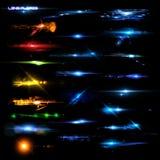 Fusées et objets façonnés de lentille illustration libre de droits