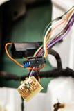 Fusíveis e fios do automóvel Foto de Stock