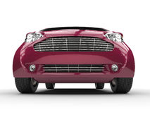 Fuschia Colored Compact Car Royalty Free Stock Photo