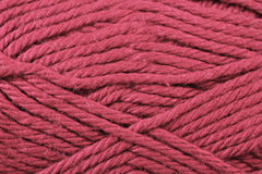 Fuschia Yarn Texture Close Up Photo libre de droits
