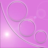 Fuscia Swoosh - coin de bouton Image stock