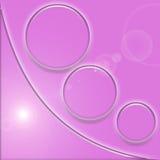 Fuscia Swoosh - de Hoek van de Knoop Stock Afbeelding