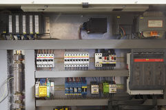 Fuse box. Large fuse box with many different fuses royalty free stock image