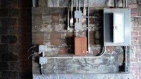 Fuse box. Abandoned fuse box stock images