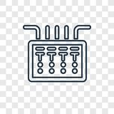 Fuse box concept vector linear icon on transparent back vector illustration