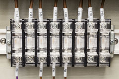 Fuse box for electricity in a factory Stock Photo