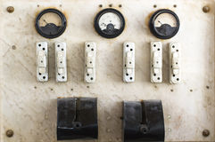 Fuse box and switch. Vintage fuse box and switch Royalty Free Stock Images