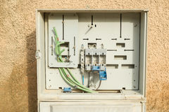 Fuse box. Waiting to be completely fitted royalty free stock photos