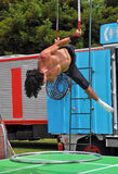 Fuse Circus Aerial Performer, World Buskers Festival, New Zealan royalty free stock photography
