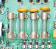 Fuse and component with circuit board Royalty Free Stock Image