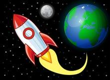 fusée de dessin animé Photographie stock