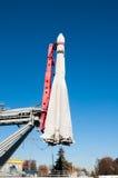 Fusée de transporteur soviétique de l'espace dans VDNKh, Moscou Image stock