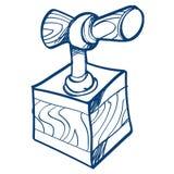 Fuse dynamite icon. Outline vector illustration isolated on white background stock illustration