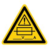 Fuse (Writable) Symbol Sign Isolate On White Background,Vector Illustration. Ampere, automotive, battery, box, breaker, car, circuit, connection vector illustration