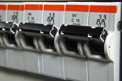 Fusebox close up royalty free stock images