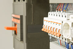 Fusebox in a row Stock Photo
