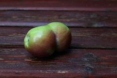 Fused apples Stock Image