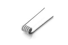 Fused clapton coil for vaping on a white background Stock Images