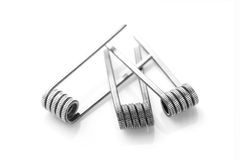 Fused clapton coils for vaping on a white background Royalty Free Stock Photography