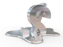 Fused dollar sign Royalty Free Stock Image