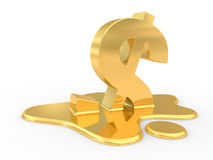 Fused dollar sign Royalty Free Stock Photos