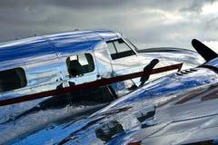 Fuselage brillante del Jr. de Lockheed Electra Imágenes de archivo libres de regalías