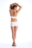 Fuselage convenable de jeune femme en bonne santé dedans par derrière Images stock