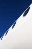 Fuselage d'avion avec des hublots Photographie stock libre de droits