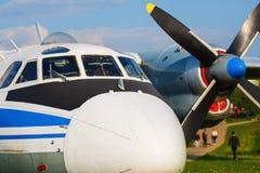 Fuselage d'un vieil avion Images stock
