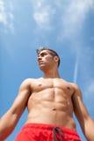 Fuselage de sport et de santé de jeune homme photos libres de droits