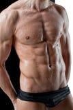 Fuselage humide sexy d'homme de muscle Photos libres de droits