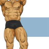 Fuselage musculaire d'homme illustration de vecteur