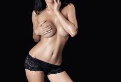 Fuselage sexy de femme Photographie stock
