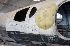 A fuselagem de Swoose com as assinaturas do ` dos grupos Imagens de Stock