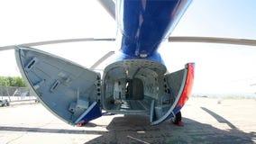 Fuselagem do helic?ptero de carga fotografia de stock