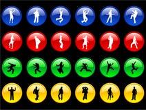 Fuselages sur les boutons Photos libres de droits
