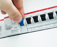 Fuses control Stock Images