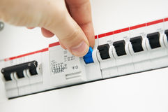 Fuses control. Royalty Free Stock Photography