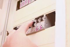 Fuses. Install on the box in house royalty free stock image