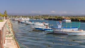Fuseta-Hafen, Algarve, Portugal Lizenzfreie Stockbilder