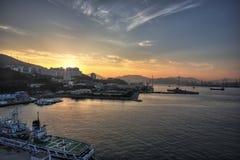 Fushan-Hafen Stockfotografie