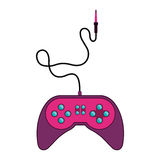 Fushia remote control games with jack connector Stock Photography